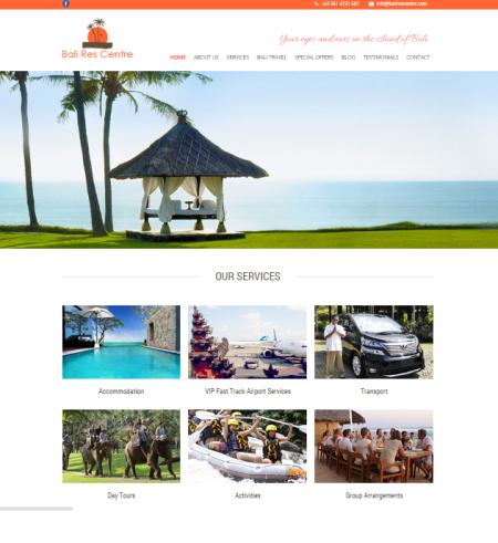 Gambar 1.1 - Homepage Bali Res Centre